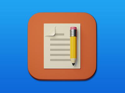 10. Paper & pencil minimal 3d art 3d illustration design icon photoshop blender3d adobe photoshop b3d