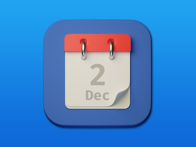 14. Calendar minimal illustration 3d art 3d design icon photoshop blender3d adobe photoshop b3d
