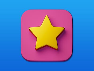 17. Star minimal 3d art 3d illustration design icon photoshop blender3d adobe photoshop b3d