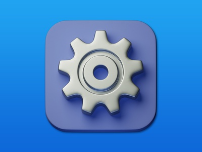 18. Gear minimal illustration icon 3d art 3d photoshop blender3d design adobe photoshop b3d