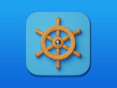 20. Ship wheel minimal 3d art 3d design icon illustration photoshop blender3d adobe photoshop b3d
