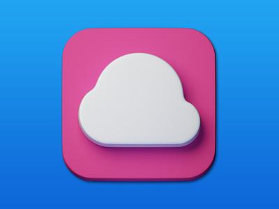22. Cloud minimal illustration 3d art 3d design icon photoshop blender3d adobe photoshop b3d