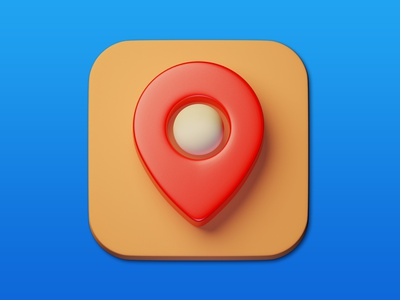 23. Map Marker minimal illustration 3d art 3d design icon b3d photoshop blender3d adobe photoshop