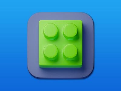 24. Brick minimal illustration 3d art 3d design icon photoshop blender3d adobe photoshop b3d