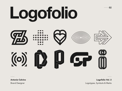 Logofolio Vol. 2 on Behance monogram letter mark lettermark logo lettermark logo collection collection behance project behance logofolio logo design trademark marks symbol logos branding logotype brand graphicdesign logodesign logo