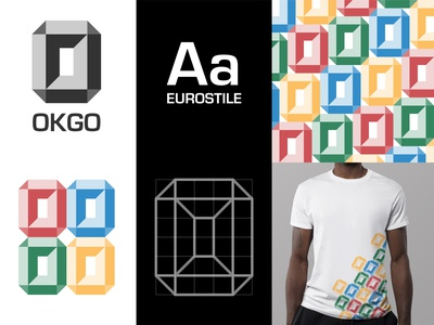 OKGO pattern design pattern tshirt typography grid grid logo colorful branding design brand identity brand design vector trademark marks symbol logos branding brand graphicdesign logodesign logo