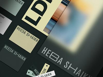 Heba Shaikh Brand Identity stationery corporate brand business card corporate brand identity brand identity brand design visual identity corporate branding branding and identity branding design corporate design corporate behance project behance fashion branding fashion brand fashion brand branding logotype