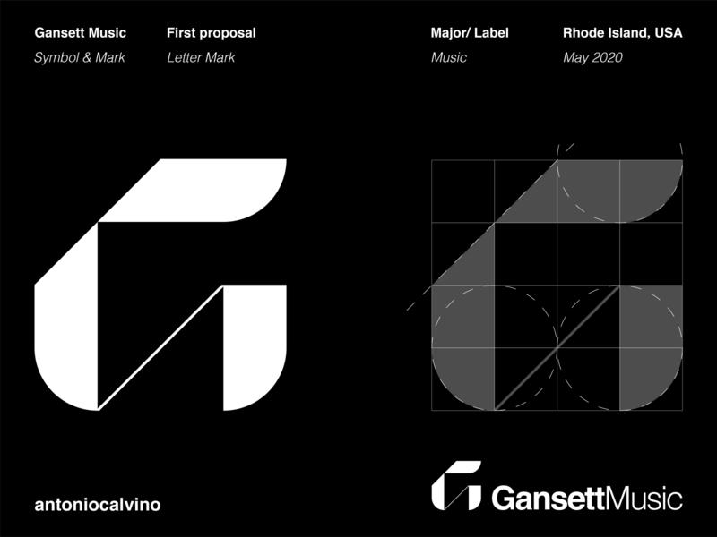 Gansett Music logo mark logo grid grid logo branding letter mark logo music logo music major music label label mark letter mark lettermarklogo letter g g lettermark logodesign logo design logos logo