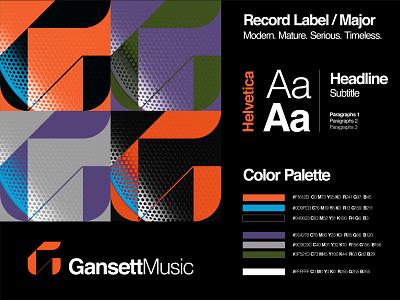 Logo Guideline Gansett Music mark brand identity brand manual guidelines helvetica major record label music branding design branding identity branding identitydesign identity color palette color logo guidelines logo guide logodesign logo design logo
