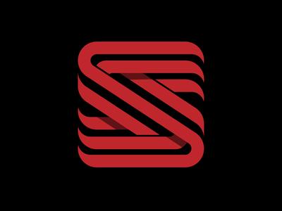 Substream Records vector s logo letter logo logo symbol symbol record label line art logo red letter s logo letter s lettermark logo mark trademark music mark shadows logo design logodesign logos logo