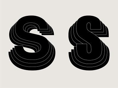 S Lettermarks black monochrome s logo logo s symbol mark branding letter music logo impact helvetica lettermarkexploration lettermark logo letter s letter mark lettermark logodesign vintage logo logo 3d logo