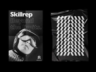 Posters X Skillrep graphic black and white pattern printing prints print poster design poster art posters poster branding and identity branding agency branding design brand identity brandidentity brand design brand branding sports branding sport