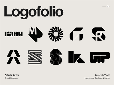 Logofolio Vol. 3 logo mark symbol logo inspiration logo collection brand design behance project behance logofolio branding logo designer monogram logo monogram lettermark trademark mark logos logodesign logotype logo design logo