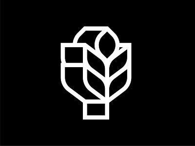 Ear of corn Symbol mark symbol mark logo modernism modern logo modernism logo design logo mark corn logo corn wheat logo ear logo wheat ear trademark marks symbol logos design branding logodesign logo