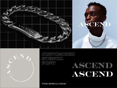 Ascend 1.0 Logotype brand identity branding concept branding design jewellery logo jewelery brand design brand brandidentity branding typedesign type typography stencil font stencil logotype designer logotype design logotypedesign logotypes logotype logo