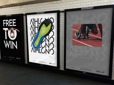 Subway AD Athlono sportwear sports branding behance project behancereviews behance logotype branding identity brandidentity branding and identity branding design brand identity brand design branding brand billboard design billboard subway posters poster design poster