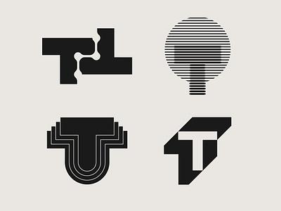T lettermarks Collection design minimalism minimal collection marks mark business startup graphicdesign logodesign letter symbol logo designer logo design t logo t lettermark t branding logo graphic design