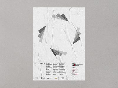 Poster MACS - Museo Arte Contemporaneo Sicilia 1/3 contemporary art museum dribbble brandidentity branding brand posterdesign poster design graphic graphicdesign