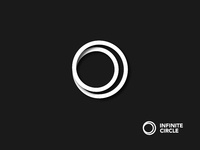 Monochrome Infinite Circle Symbol Design