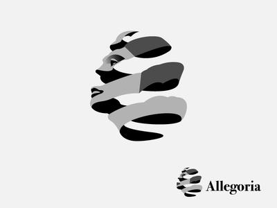 Allegoria Logo Concept fashion brand brand mark logo art fashion logo logo inspiration marks vector illustration logos logo design logo illustration inspire fashion logotype dribbble brand logodesign logo graphic graphicdesign