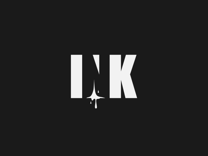 INK Logo Design word logo wordmark word mark logo mark design logo mark logomark logo type ink negative space logo negative space smart logo inspire negativespace logotype branding logodesign logo design graphic graphicdesign