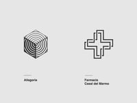 "My logo designs on ""20 Monochromatic Logos Collection"""