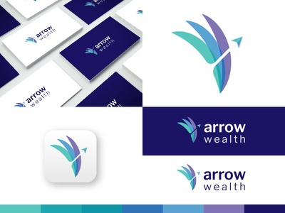 Arrow Wealth Logo Design