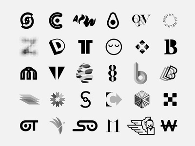 Best of 2018 (positive version) logofolio monogram minimal identity marks logos inspire trademark symbol inspiration brandidentity branding logotype brand logodesign logo dribbble graphicdesign graphic design