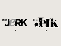 Die Jerk | Logotype poll