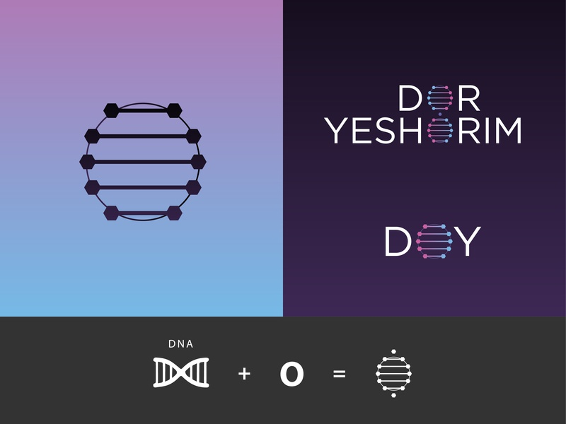 Dor Yeshorim 1 pt. concept logo concept emblem emblem logo symbol design symbol proposal mark symbol mark making mark gradients gradient background gradient design gradient color gradient start up genetic dna logo 2d logo