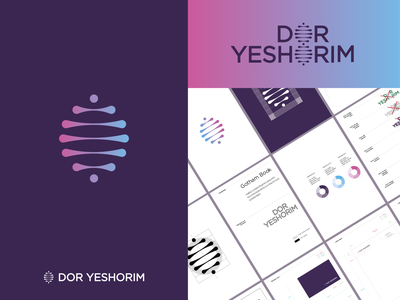 Dor Yeshorim colors palette emblem design emblem logo mark symbol icon logo design dna gradient design gradient color gradient logo 2d mark symbol mark symbol designer symbol design symbol manual brandguide brand and identity brand logo