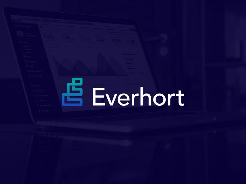 Everhort Mark visual branding branding design logo marks logo mark marks gradients modernism modern logo letter e letter mark lettermark mark gradient logo gradient symbol logos branding brand logodesign logo
