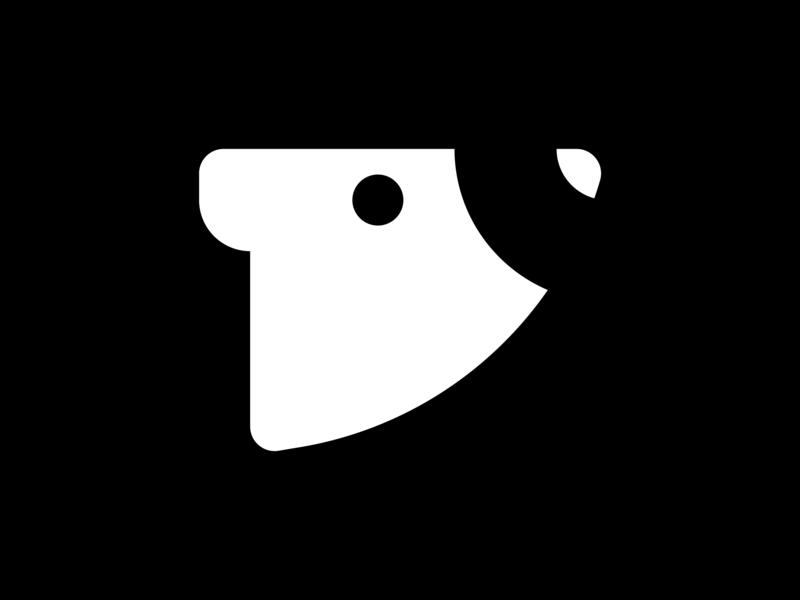 Bald Bear Prod. Symbol minimalist logo logo mark logo design logo illustration marks mark animal mark symbol design symbols symbol monochromatic monochrome bear logo bears bear animal logos animal logo animal logos logo