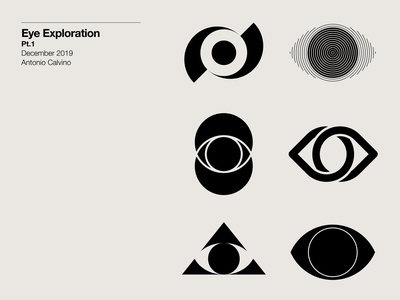 Eye Exploration Pt.1 monochrome symbol exploration logo exploration logo mark symbol icon symbol design symbol icon symbol logo design logo mark logo mark symbol marks mark eye mark eye symbol eye logo eyes eye graphicdesign logodesign logo