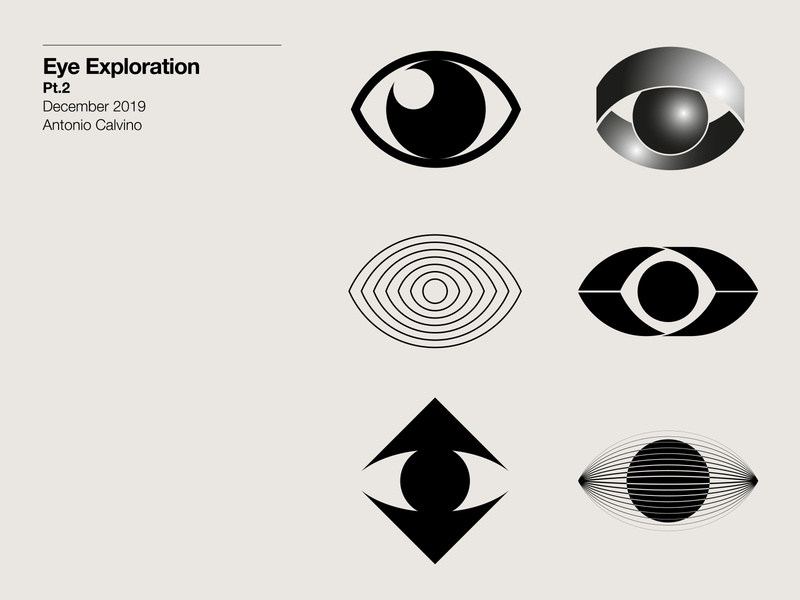 Eye Exploration Pt.2 monochrome symbol design exploration logo design branding logo designer logo design logo exploration eye logos eye mark eyes eye logo eye inspiration marks symbol branding logos brand logodesign logo