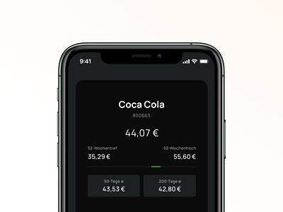 stockr – Tinder for Stocks – Main View tinder prices cards darkmode finance stocks app mobile