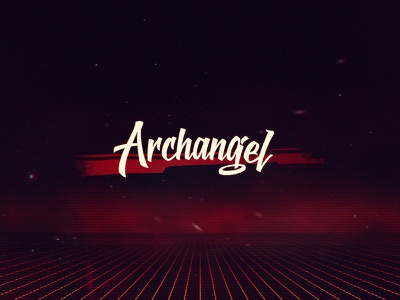 Archangel (80s Dark Synth Brand) miami rgb synthwave red dark dark synth vintage vhs retro 80s synth archangel