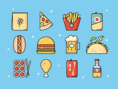 Food icons )