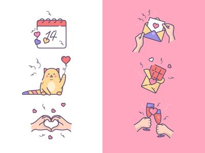 Valentine's Day icons :)