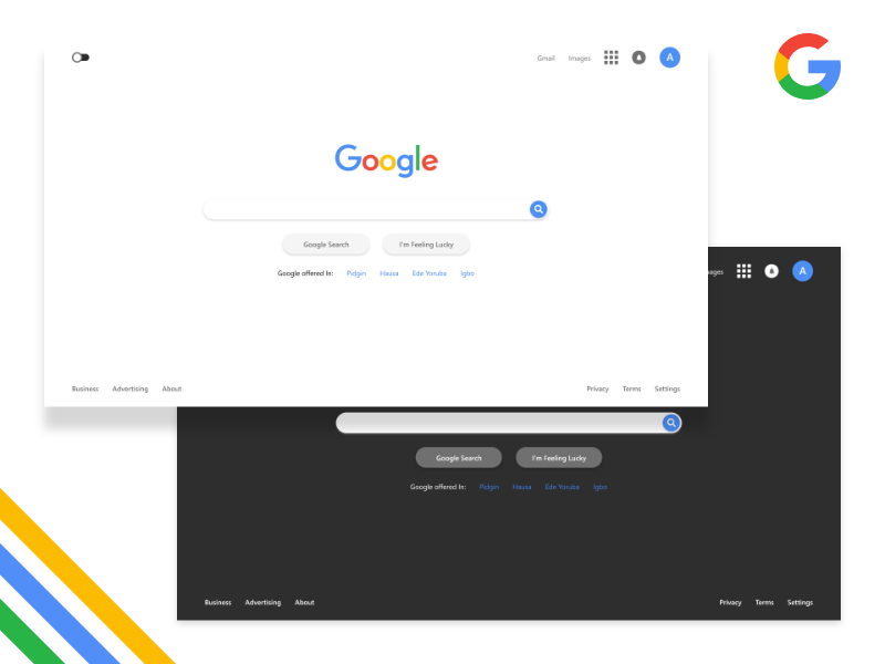 Google Homepage Redesign search homepage redesign ui design design uiux ux ui google