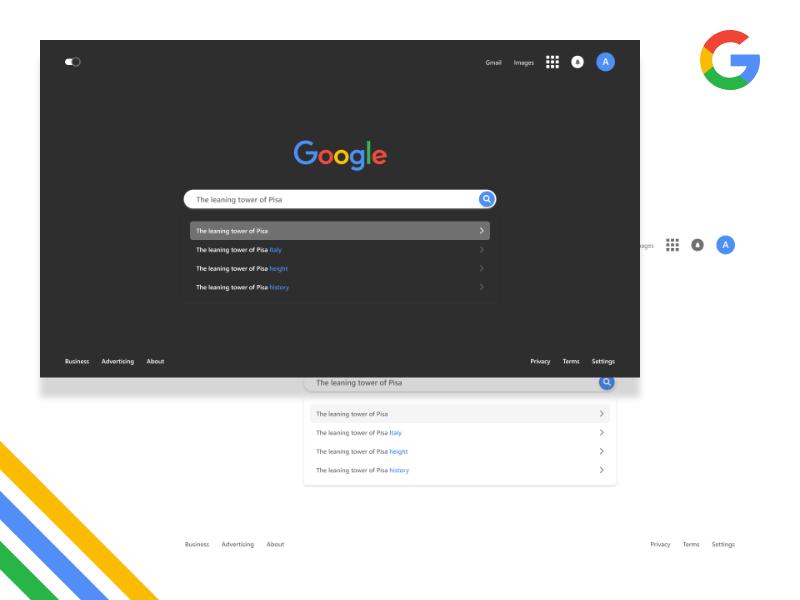 Google Homepage Redesign redesign uiux design google ux ui