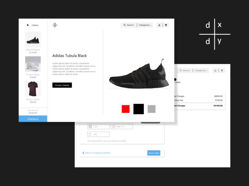 E-Commerce checkout shopping cart cart shopping ecommence illustration typography uiux adobe design adobexd ux ui