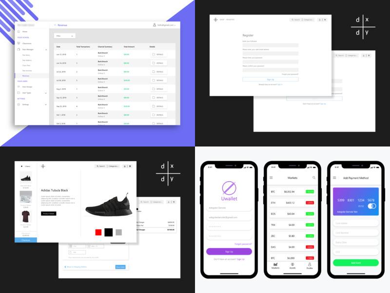 Top 4 of 2018 exchange crypto iphonex ios ui design uiux adobe branding vector adobexd ux