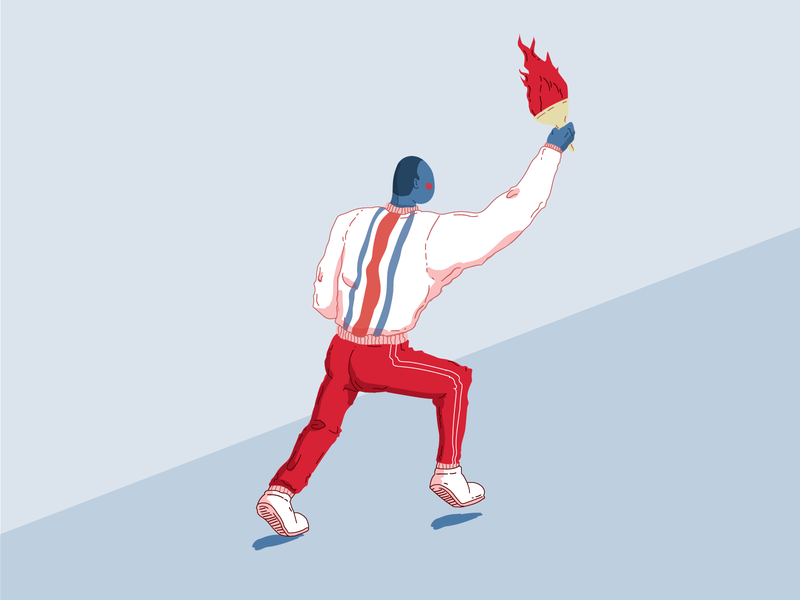 Independence Day 🇨🇷 fire newsletter independence day running costa rica independence illustration