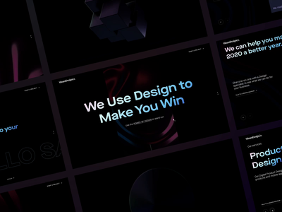 Minami Design Collective - New Website adaptive dark minami 3d animation onepage responsive motion agency website dark theme parallax transitions one page website