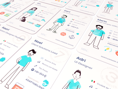 Minami Crew Card Deck badges cards artwork illustration crew personality enneagram print teamwork deck cards design