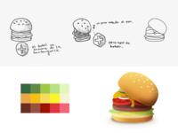 Burger Customization Illustration