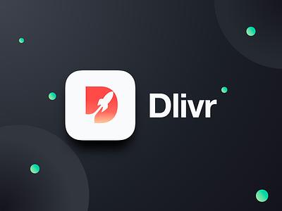 Dlivr - Logotype branding identity logo delivery burger app