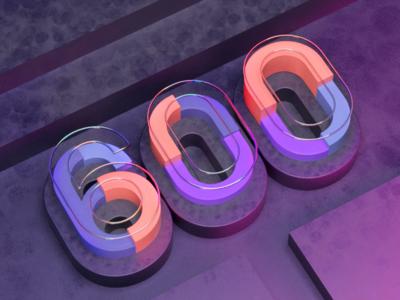 600 Followers isometric illustration isometric render celebration 600 dribbble followers