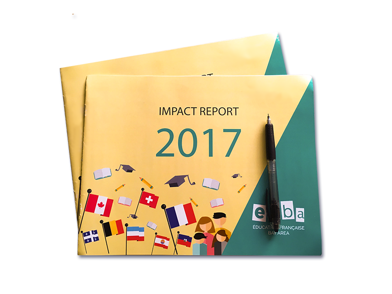 Impact Report efba children flat design impact report print